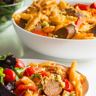 Easy Vegan Penne Pasta and Sausage