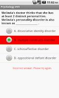 Screenshot of CLEP Psychology Exam Prep
