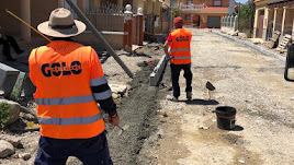 Trabajos en la calle Fuente Álamo.