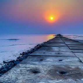 Digha by Kunal Karmakar - Landscapes Beaches ( infinite, journey, sunrise, beach, landscape )