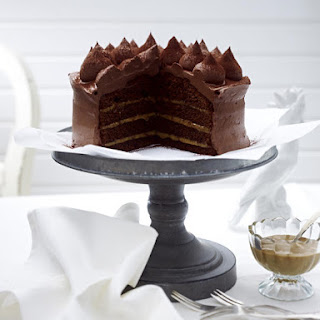 Chocolate Cake with Dulce de Leche and Chocolate Cream