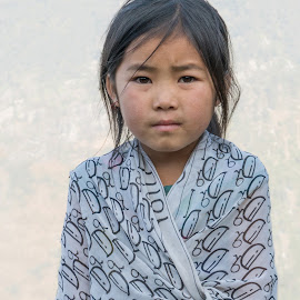 Young Girl of the Black Hmong People by Chris Bartell - Babies & Children Child Portraits ( countryside, girl, sapa, vietnam, young )