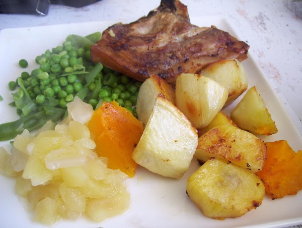 Boil the peas and or beans in a pot, about 10-15 minutes once pot...