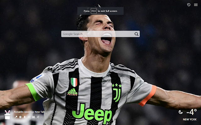 Ronaldo Juventus New Tab, Wallpapers HD