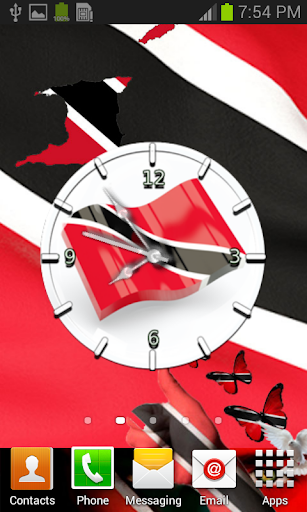 Trinidad and Tobago Flag Clock
