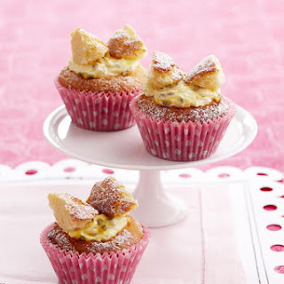 Butterfly Cupcakes with Passionfruit Cream.