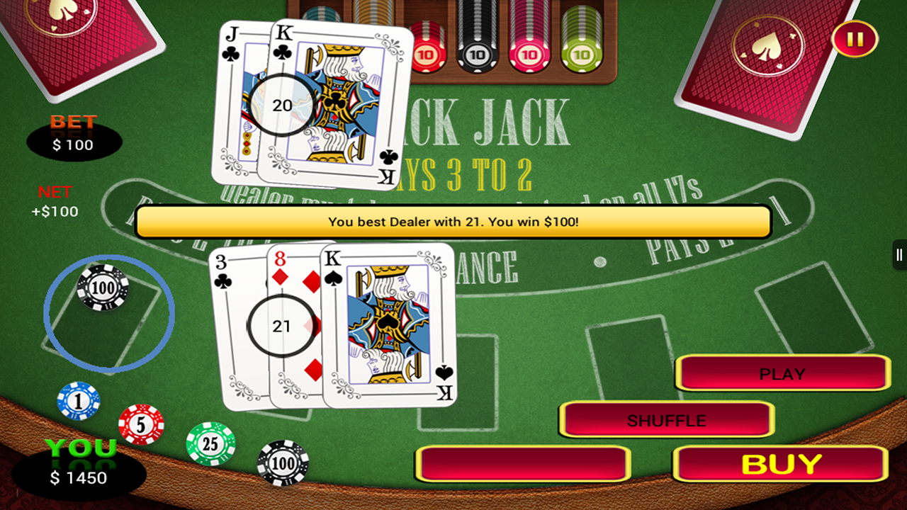2 to 1 blackjack las vegas