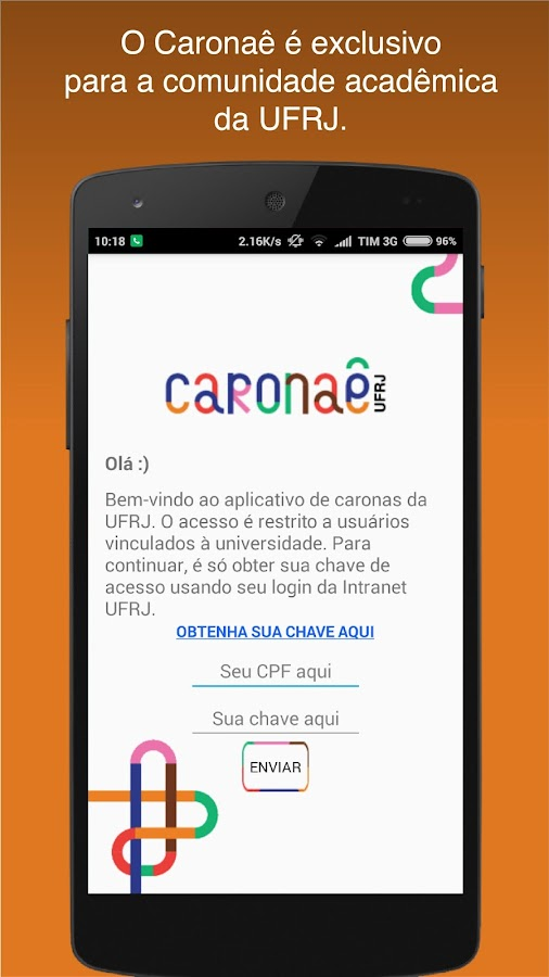 Caronaê UFRJ- screenshot