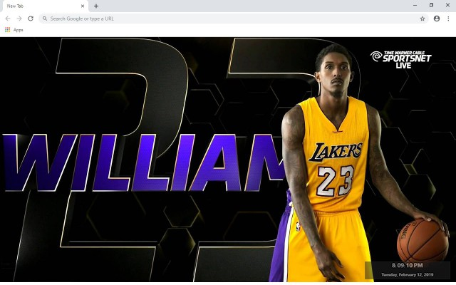 Lou Williams New Tab & Wallpapers Collection