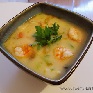 Thai Shrimp Soup with Coconut Milk and Lemongrass