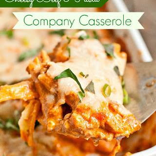 Cheesy Ground Beef and Pasta Casserole (Company Casserole).