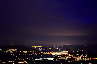 Photo: Duncan BC from Mt.Prevost at night