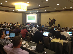 Photo: Monica Wilkinson and Josh Long doing Cloud Foundry Bootcamp in DC