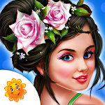 Fashion Doll Flower Girl Salon Icon