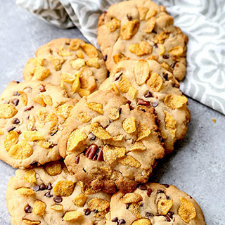 Honey Sweetened Cornflake Cookies.
