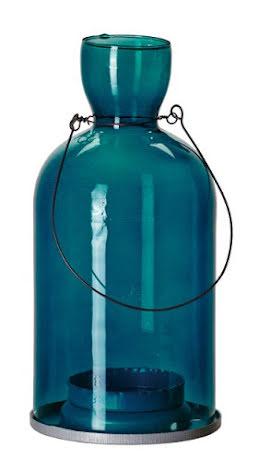 Tingle Blå - Hängande Flasklykta - 10x21cm