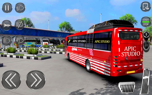 City Coach Bus Driving Sim : Bus Games 2020 apklade screenshots 1