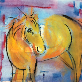 horse by Jeanne Knoch - Painting All Painting