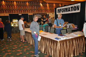 Photo: Dorothy checking in for vendors