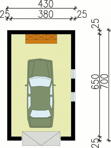 G10 - Rzut garażu