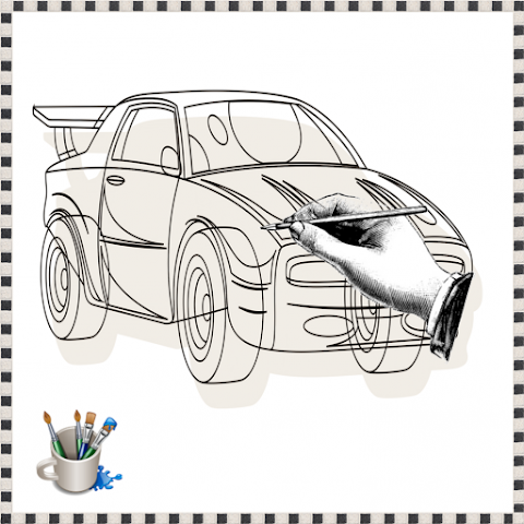 android Drawing To Racing Car Screenshot 0