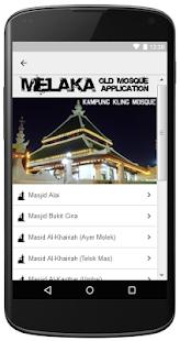 Melaka Old Mosque Application - MOMA - náhled