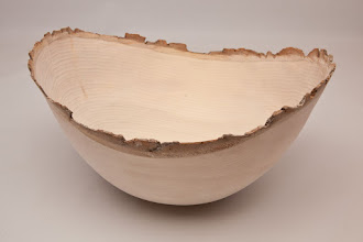 "Photo: BILL LONG – 12"" x 9"" Natural-Edge, Thin Wall Bowl – [Poplar]"
