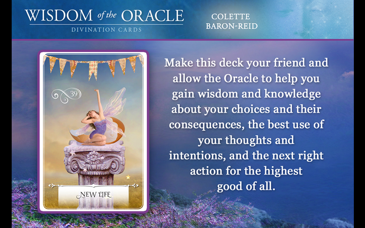 Wisdom of the Oracle Cards- screenshot