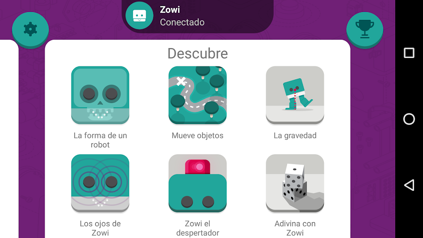 android Zowi App Screenshot 1