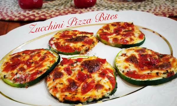 ~ Zucchini Pizza Bites ~