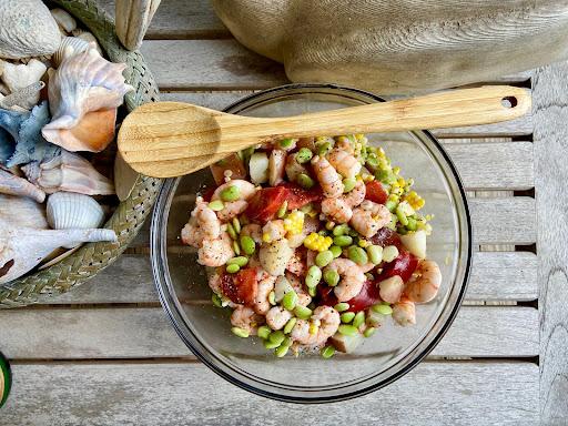 Warm Shrimp Salad with Butter Beans
