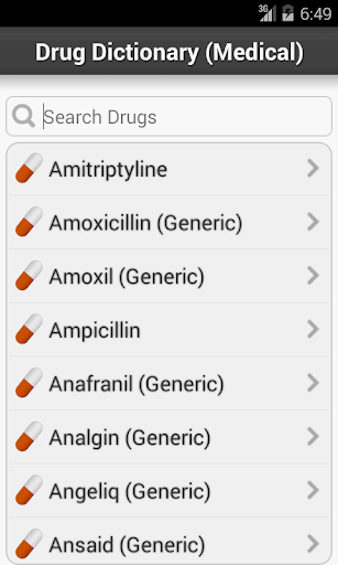 Medical Drugs Guide Dictionary screenshot for Android