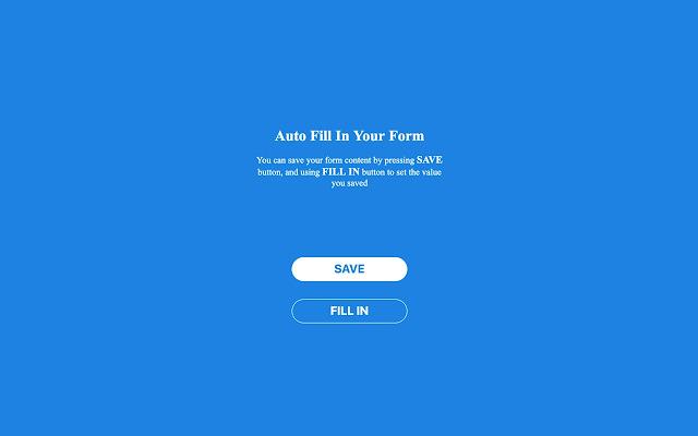 Form Auto Fill In
