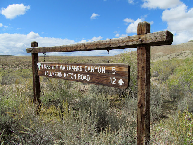 Frank's Canyon sign