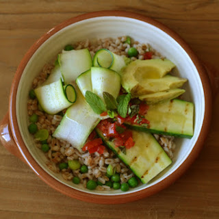 Spelt And Courgette Salad.