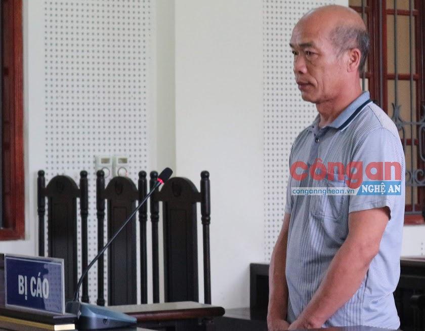 Bị cáo Lô Văn Thơ tại phiên tòa