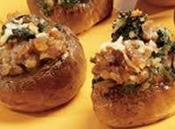Sausage, Cheese And Spinach Stuffed Mushrooms