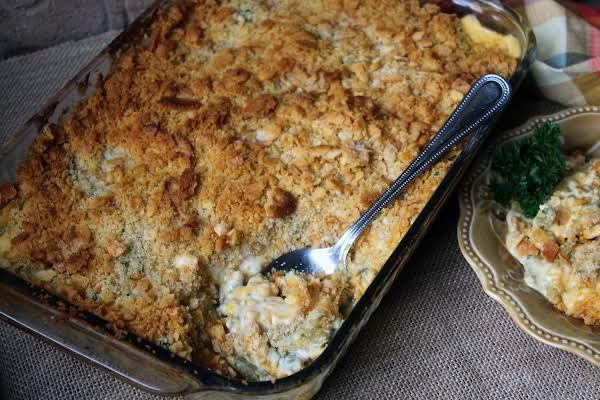 Cheesy Corn And Green Bean Casserole