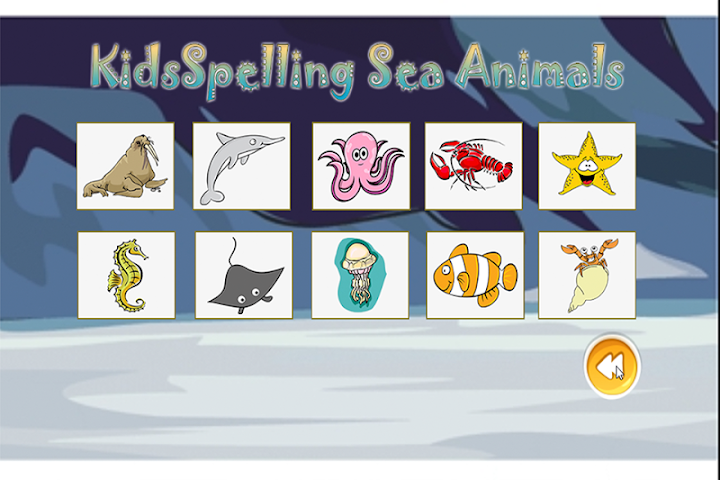 android Spelling Words Sea Animal Screenshot 2