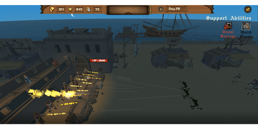 Pirate Colony Defense Survival  captures d'écran 2
