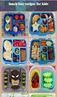 lunch box recipes for kids - náhled