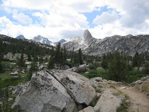 Photo: Fin Dome, 11693' above Rae Lakes.  Rae Lakes is one place I remember from my first 1982 Muir Trail S-N hike.  It was not crowded this visit due to it being midweek.