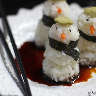Snowman Sushi.