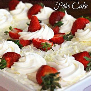 Strawberries and Cream Poke Cake Recipe