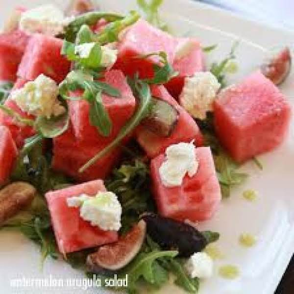Watermelon, Arugula, Feta Cheese Salad Recipe