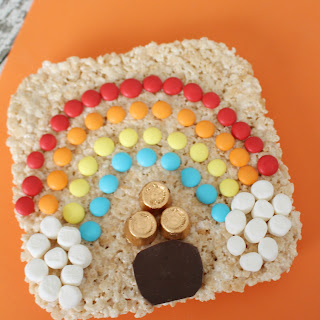 Rainbow Rice Krispies Cake