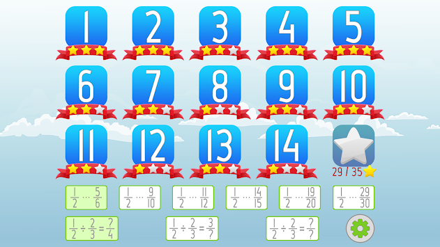 Dividing Fractions Math Game apk screenshot
