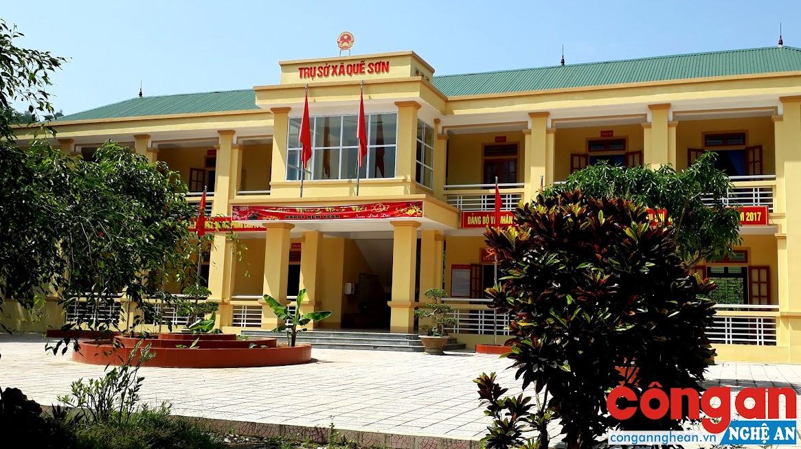 Trụ sở UBND xã Quế Sơn - nơi các cán bộ chủ chốt vừa bị kỷ luật