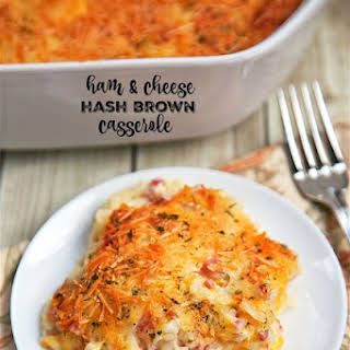Ham and Cheese Hash Brown Casserole.