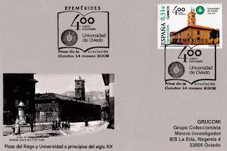 Photo: Matasellos del 400 Aniversario de la Universidad de Oviedo